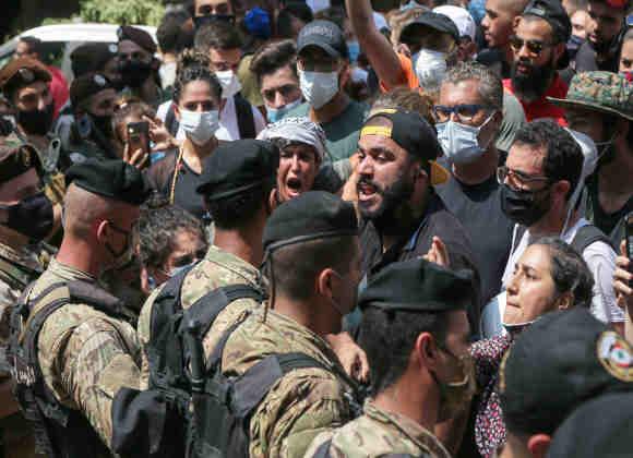 نخستین تظاهرات اعتراضی ضد دولتی در بیروت پس از انفجار