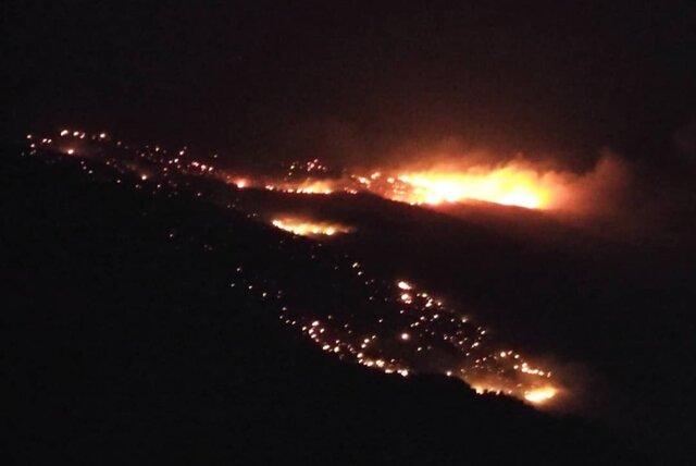 آتشسوزی گسترده در جنگلهای کوه سفید کهگیلویه و بویراحمد