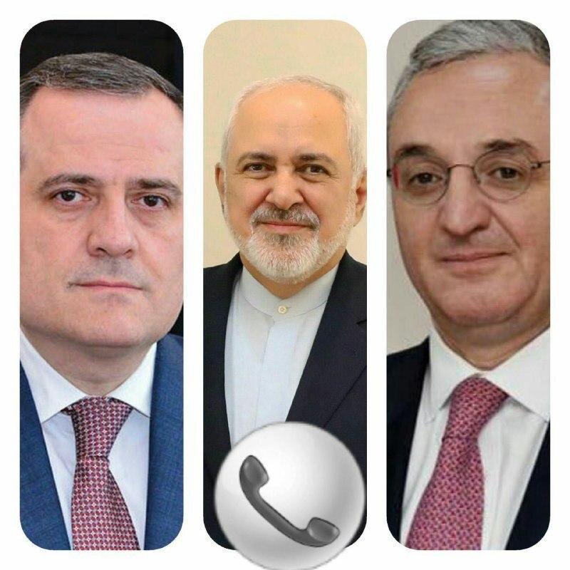 رایزنی ظریف با وزیران امور خارجه آذربایجان و ارمنستان در پی بروز درگیری نظامی بین باکو و ایروان