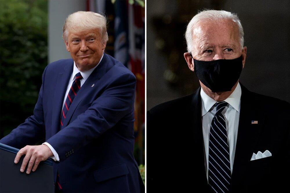 بایدن مصدوم شد/ ترامپ: زود خوب شو!