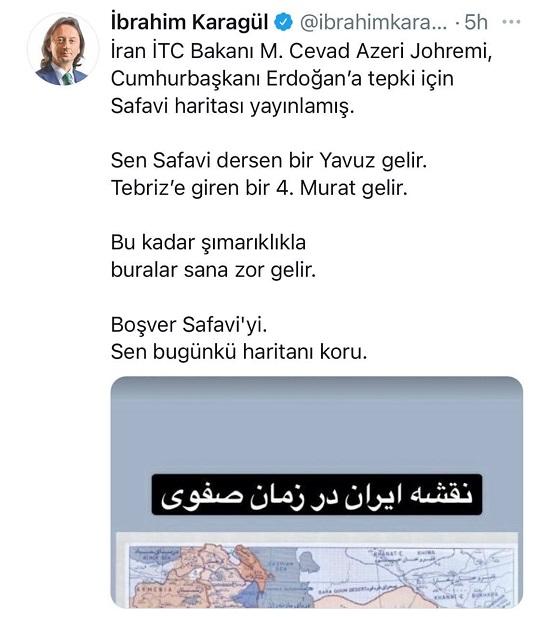 هتاکی روزنامهنگار نزدیک به اردوغان به ایران