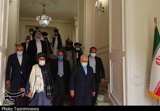 هیات طالبان به دیدار ظریف رفتند