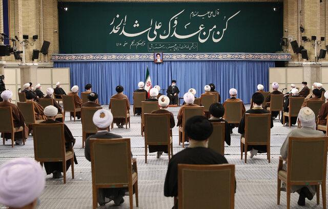 دیدار رئیس و اعضای مجلس خبرگان رهبری با حضرت آیت الله خامنه ای