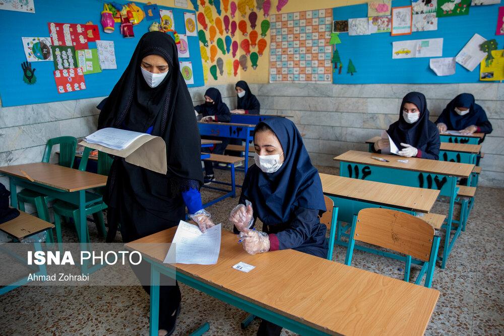 ممنوعیت تجمع دانش آموزان در ورودی و خروجی حوزه های امتحانی /الزام مدارس به گندزدایی حوزه ها