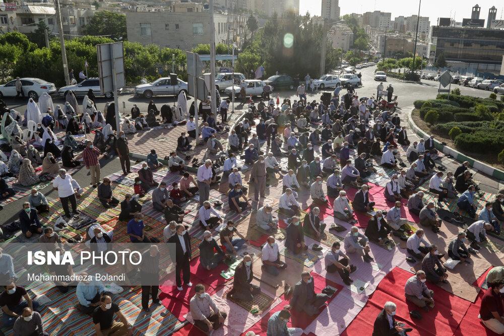 نماز عیدفطر بدون مشکل خاصی در تهران برگزار شد
