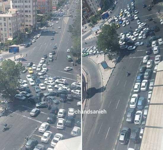 ترافیک سنگین در تهران؛ قطع برق معابر را قفل کرد