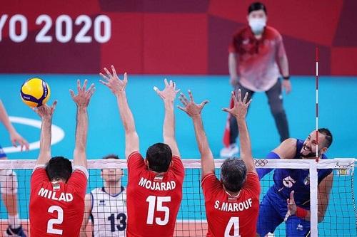 دومین باخت پیاپی والیبال ایران در المپیک توکیو