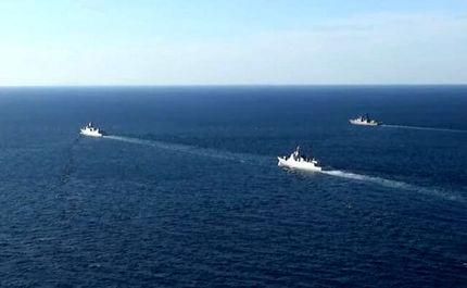 اولین گشتزنی مشترک دریایی روسیه و چین در اقیانوس آرام